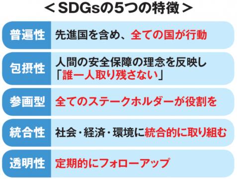 SDGsの5つの特徴